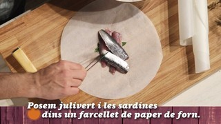 Sardines a la papillota en un minut