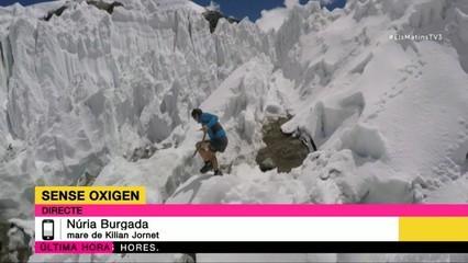 Núria Burgada, la mare de Kilian Jornet, ens explica que han estat moltes hores sense saber res de l'alpinista