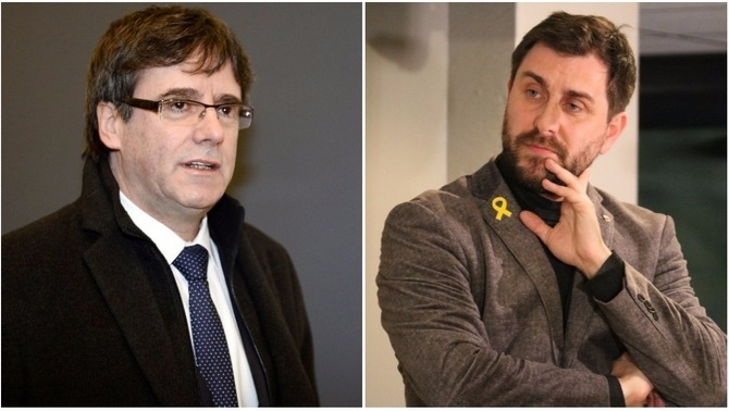 Carles Puigdemont i Toni Comín