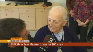 Felicitem José Guerrero, de Barcelona, que avui fa 100 anys