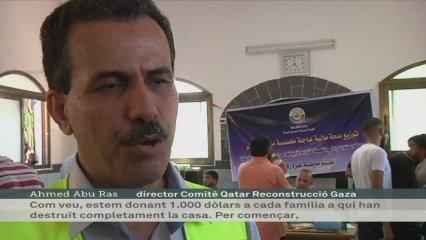 Qatar reparteix diners a Gaza per fer cases