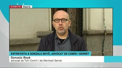 """Boyé (advocat Serret i Comín): """"Els fets no són sedició ni rebel·lió ni malversació de fons públics"""""""