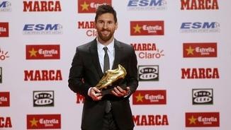 Leo Messi amb la seva quarta bota d'or