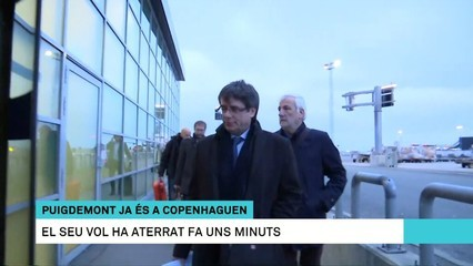 Connexió a Copenhaguen, a l'arribada a l'aeroport de Carles Puigdemont
