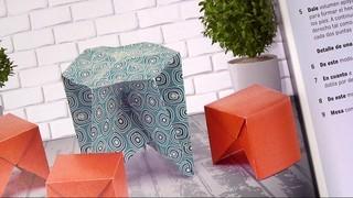 """Origami de muebles en miniatura"""