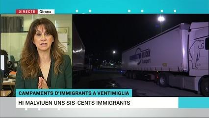 Immigrants dels campaments de Ventimiglia miren d'entrar a França amagats en la càrrega dels camions