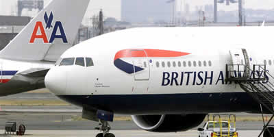 Dos avions de British Airways i American Airlines