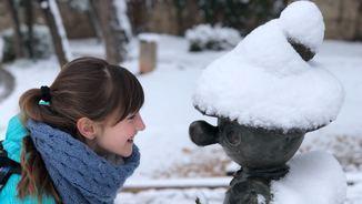Un ninot de neu a Moià (Josep Surroca)