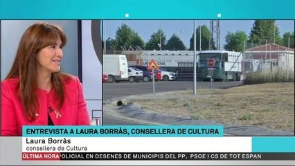 """Laura Borràs: """"M'he trobat una conselleria marcada pel 155"""""""