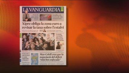 "El ""corralito"" xipriota continua encapçalant portades"