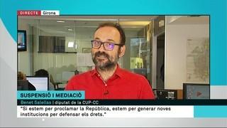 """Benet Salellas (CUP-CC): """"Va ser un dia bastant dur"""""""