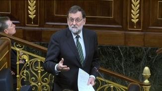 Mariano Rajoy responent una de les preguntes