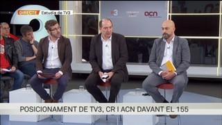 Roda de premsa de TV3, Catalunya Ràdio i l'ACN per fer pública la posició comuna davant el 155