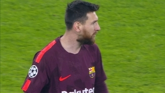 Leo Messi ha sortit a la segona part