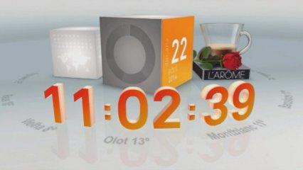 Integració de marca amb el rellotge dels telenotícies