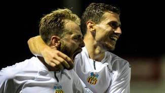 Els jugadors del Vilafranca celebren un gol (www.fc.f.cat)
