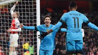 Messi fulmina l'Arsenal (0-2). El resum més divertit del partit