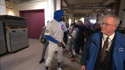 Lebron James, amb l'uniforme dels Chicago Cubs