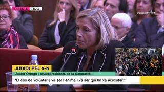 L'exvicepresidenta Joana Ortega nega haver rebut cap requeriment del Tribunal Constitucional