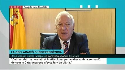 """""""Això és tècnicament i legalment un cop d'estat"""", afirma Margallo"""