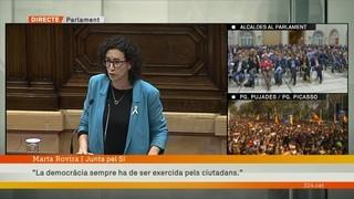 """Marta Rovira (JxSí): """"La democràcia sempre ha de ser exercida pels ciutadans"""""""