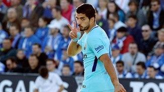 Luis Suárez ha fet 2 gols al camp del Leganés (EFE)