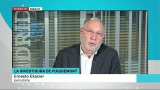 "El cas de Puigdemont ""serà un cas de jurisprudència internacional"", vaticina Ernesto Ekaizer"