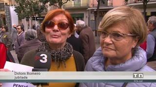 Jubilats de Figueres es concentren per demanar una millora de les pensions