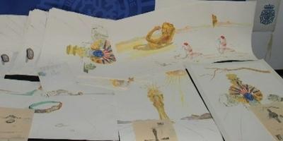 La policia intervé 47 litografies falses de Salvador Dalí
