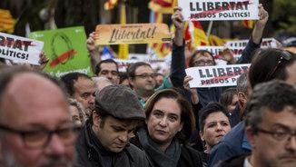 """Ada Colau: """"Volem els presos lliures, però que responguin políticament de les seves decisions"""""""