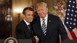 Macron i Trump, aquest dimarts a la Casa Blanca (EFE)