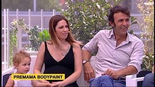 Bodypaint: panxes d'artista per a embarassades