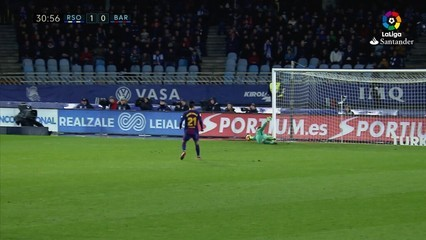 Els gols del Reial Societat, 2 - Barça, 4