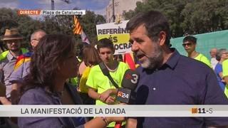 El president de l'ANC, Jordi Sànchez, explica que s'hi han inscrit més de 500.000 persones