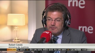 """Rafael Catalá: """"Les coses no se solucionen exclusivament convocant eleccions"""""""