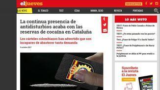 """Pàgina d'""""El Jueves"""" publicada el 5 d'octubre que fa mofa dels antidisturbis desplaçats pel referèndum"""