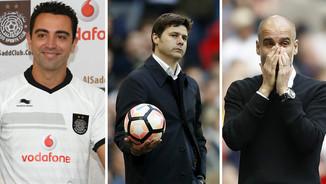Xavi Hernández, Mauricio Pochettino i Pep Guardiola (Reuters)