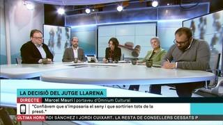 """Marcel Mauri, portaveu d'Òmnium Cultural: """"Confiàvem que s'imposaria el seny i que sortirien tots de la presó"""""""