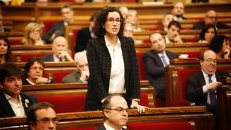 Marta Rovira, aquest dijous durant el ple d'investidura de Jordi Turull (ACN)