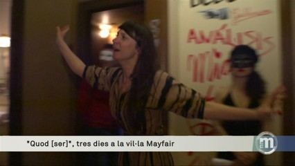Un espectacle teatral a la deshabitada Vil·la Mayfair