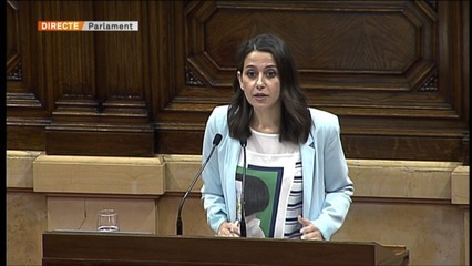 "Arrimadas: ""Vostès han aconseguit unir tota l'oposició"""