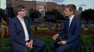 Entrevista al president de la Generalitat, Carles Puigdemont, sobre la Diada