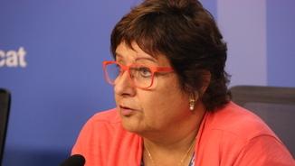 La consellera de Treball, Afers Socials i Famílies, Dolors Bassa, el 3 d'octubre (horitzontal)