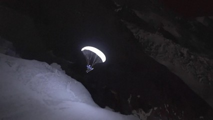 Free-ride de nit a Chamonix