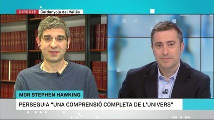 """Ignasi Ribas: """"Podríem dir que Stephen Hawking ha estat un dels físics més importants després d'Albert Einstein"""""""