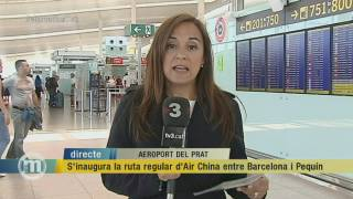 S'inaugura la ruta regular d'Air China entre Barcelona i Pequín