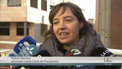 Judici, a Lleida, per canviar el nom de nou carrers dedicats a personalitats franquistes