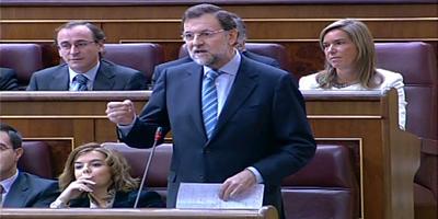 Imatge d'arxiu de Rajoy en una sessió de control del Congrés