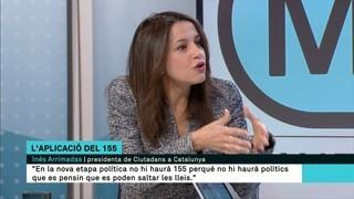 """Inés Arrimadas: """"Nosaltres no farem president ni el senyor Junqueras ni el senyor Puigdemont"""""""