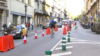 Dia sense cotxes a Barcelona sense grans problemes de trànsit